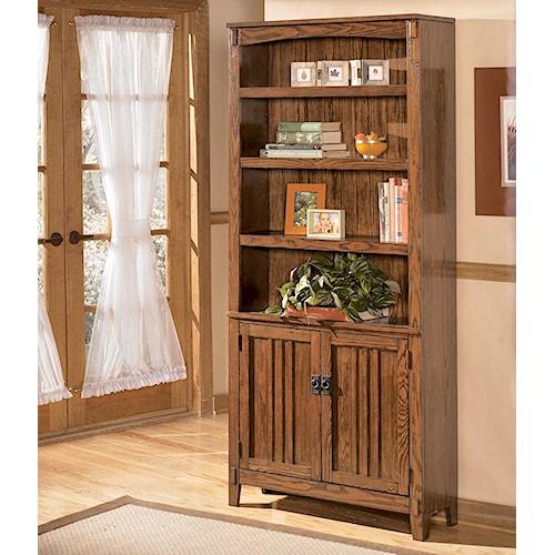 Ashley Furniture Cross Island Large Door Bookcase