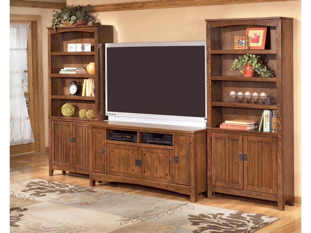 2 Bookcases Shown with TV Stand