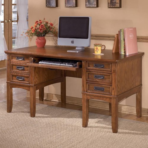 Ashley Furniture Cross Island Mission Home Office Storage Leg Desk