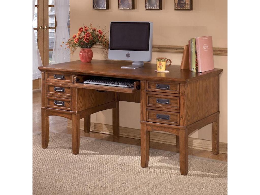 Benchcraft Cross Islandhome Office Storage Leg Desk