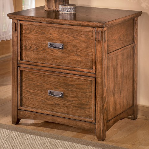 Ashley Furniture Block Island Mission 2-Drawer Lateral File