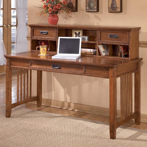 Ashley Furniture Cross Island Mission Large Leg Desk And Low Hutch