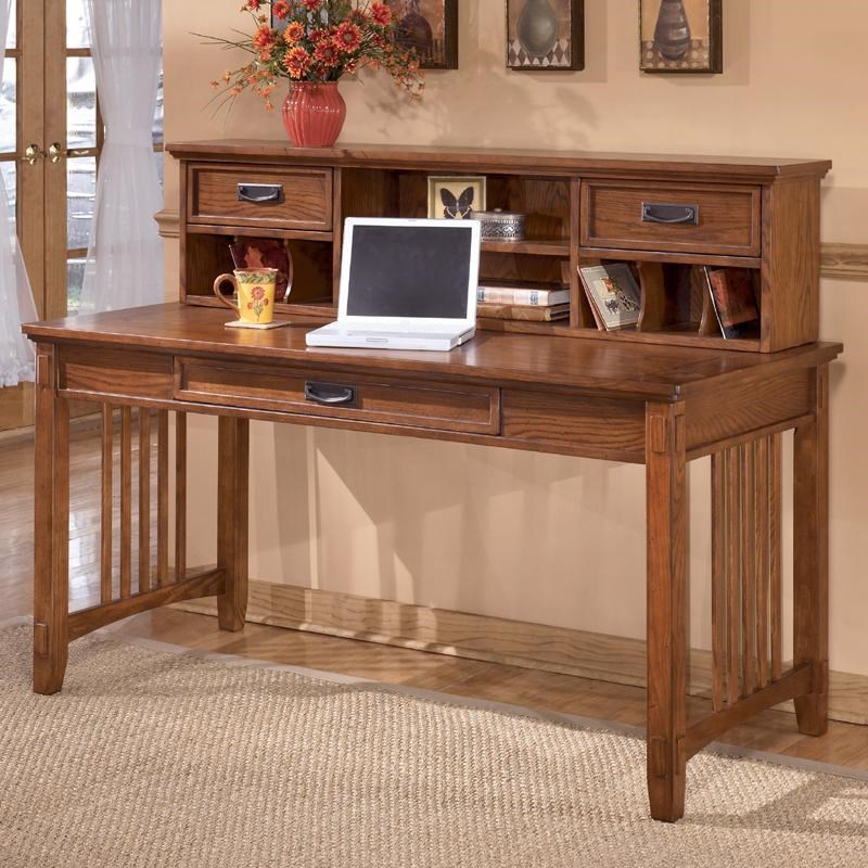 Delicieux Ashley Furniture Cross Island Mission Large Leg Desk And Low Hutch