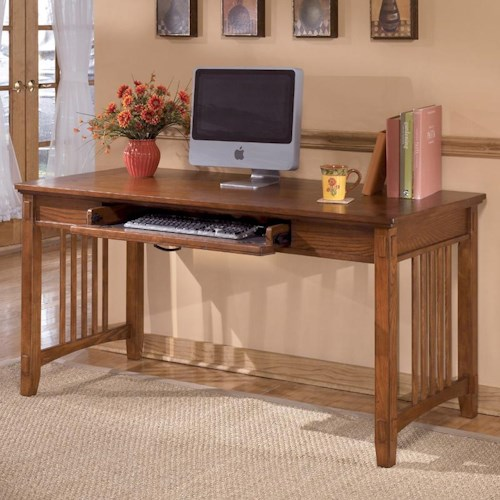 Ashley Furniture Cross Island Oak Large Leg Desk