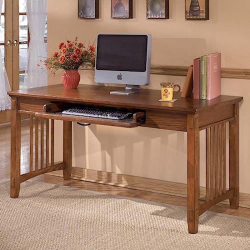 Ashley Furniture Cross Island Oak Large Leg Desk