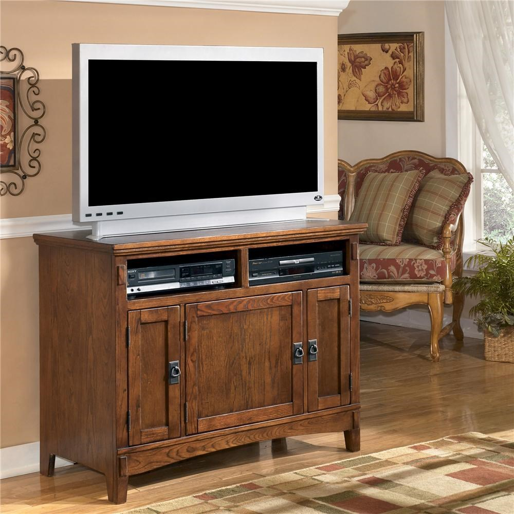 Ashley Furniture Cross Island 42 Inch Oak Tv Stand With Mission
