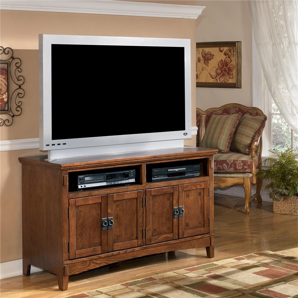 Ashley Furniture Cross Island 50 Inch Oak Tv Stand With Mission Style Hardware