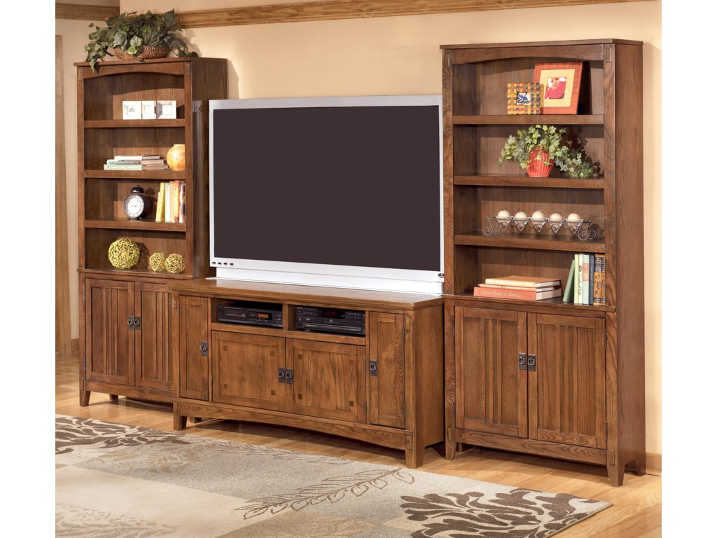 Ashley Furniture Cross Island 60 Inch Tv Stand 2 Large Door Bookcases