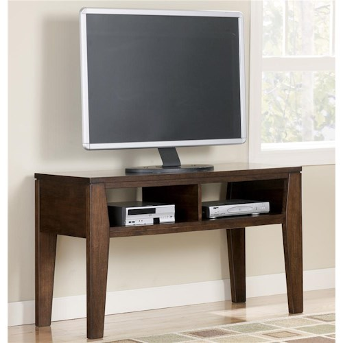 Signature Design by Ashley Deagan TV Stand Table with 2 Open Media Compartments