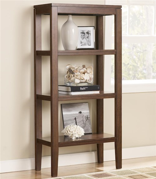Signature Design by Ashley Deagan Pier Bookcase with 3 Shelves