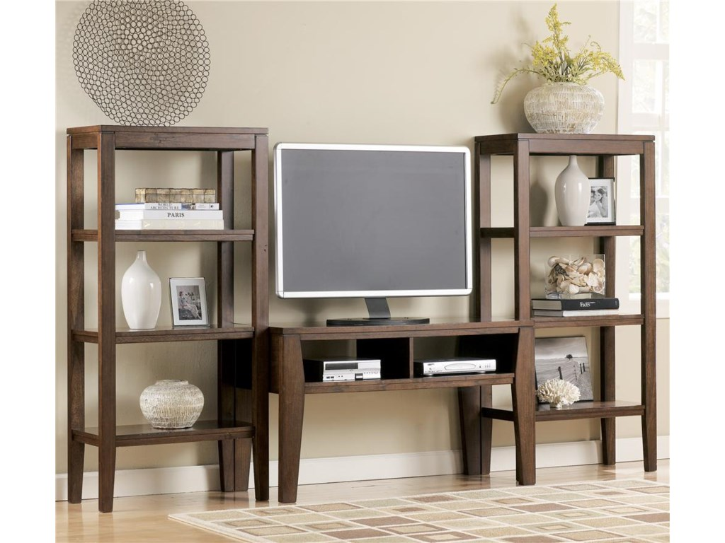 Shown as part of TV stand wall unit