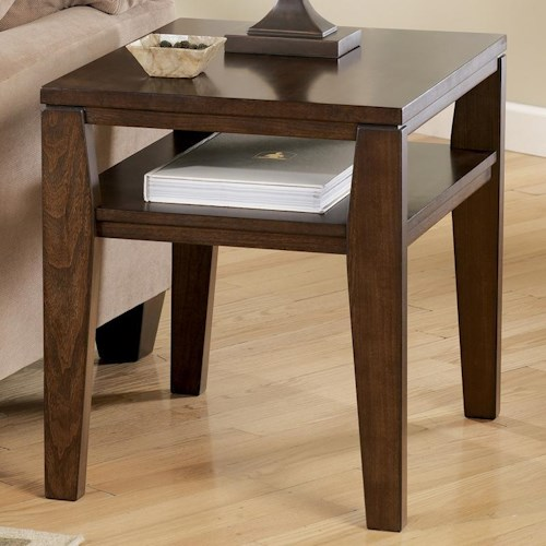 Signature Design by Ashley Deagan Rectangular End Table with Shelf