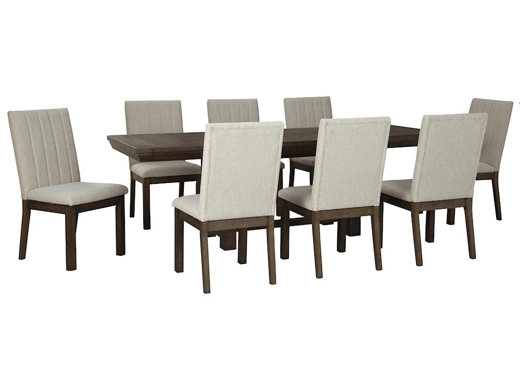 Ashley Furniture Dellbeck9 PC Dining Room Set