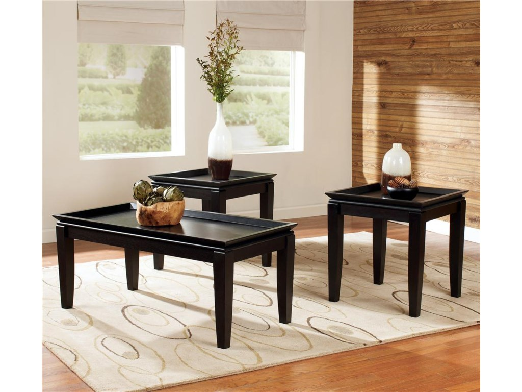 Signature Design by Ashley Delormy3-in-1 Pack Occasional Tables