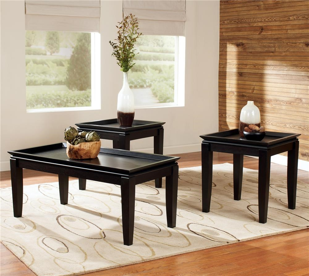 Elegant Signature Design By Ashley Delormy3 In 1 Pack Occasional Tables