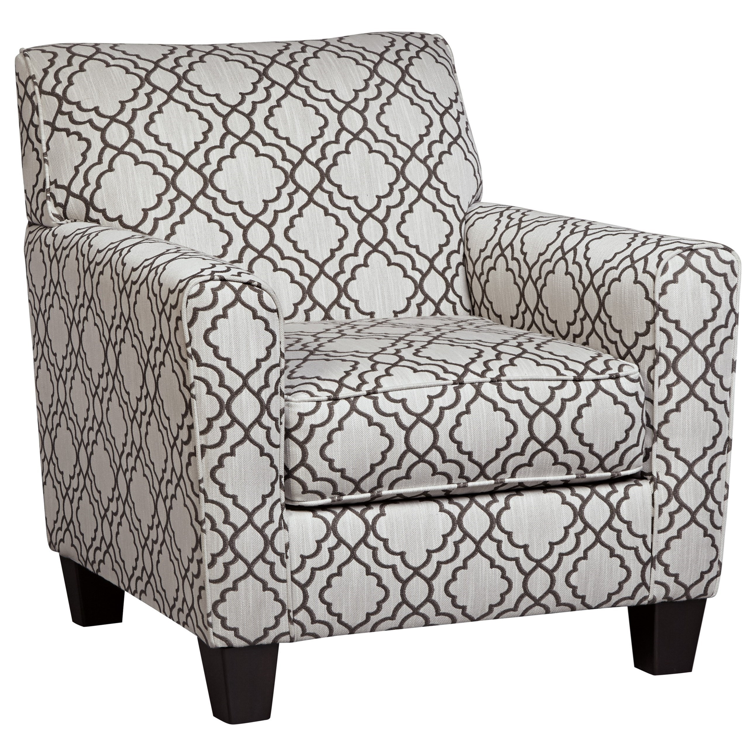 Ashley Furniture Farouh 1370121 Accent Chair With Quatrefoil Lattice Fabric    Lapeer Furniture U0026 Mattress Center   Upholstered Chairs