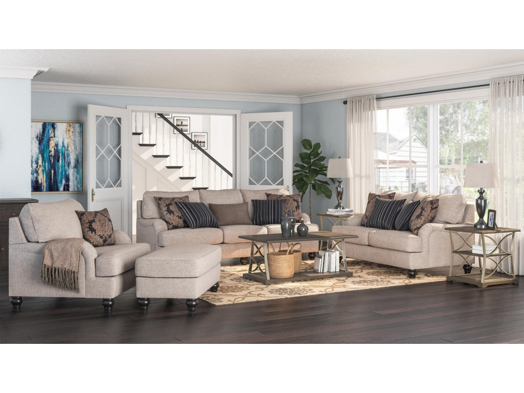 Ashley Furniture FermoySofa, Loveseat, Chair and Ottoman Set