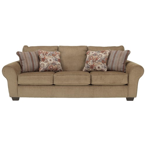 Ashley Furniture Galand - Umber Queen Sofa Sleeper with Rolled Arms