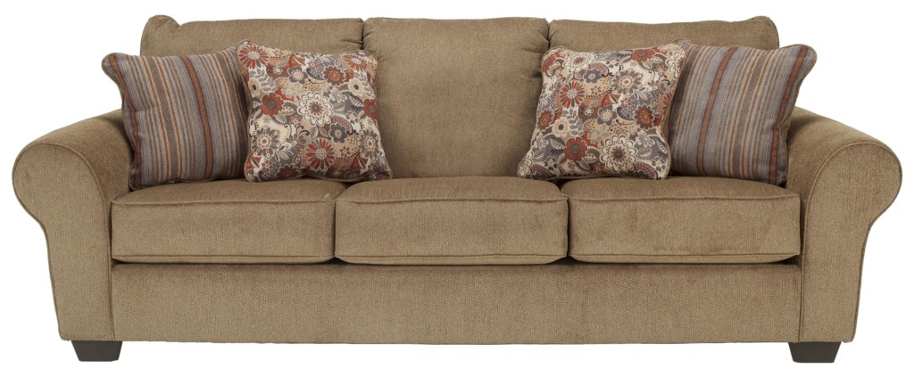 Ashley Furniture Galand - Umber Queen Sofa Sleeper With Rolled Arms - John  V Schultz Furniture - Sofa Sleeper