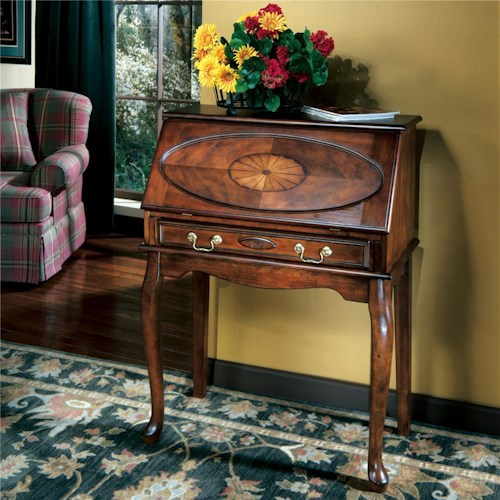 Signature Design by Ashley Elaina Secretary with 1 Center Drawer, Drop Down Workspace