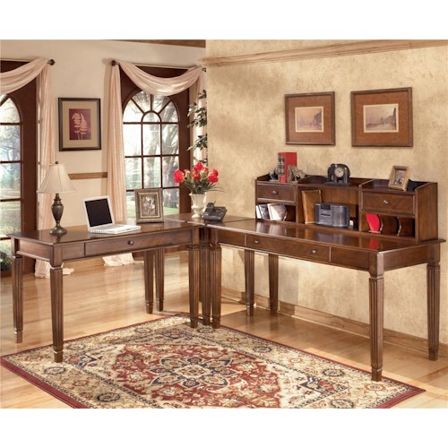 Signature Design by Ashley Hamlyn 4 Piece L-Shaped Desk