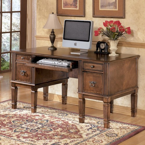 Signature Design by Ashley Hamlyn Storage Leg Desk with File Drawer