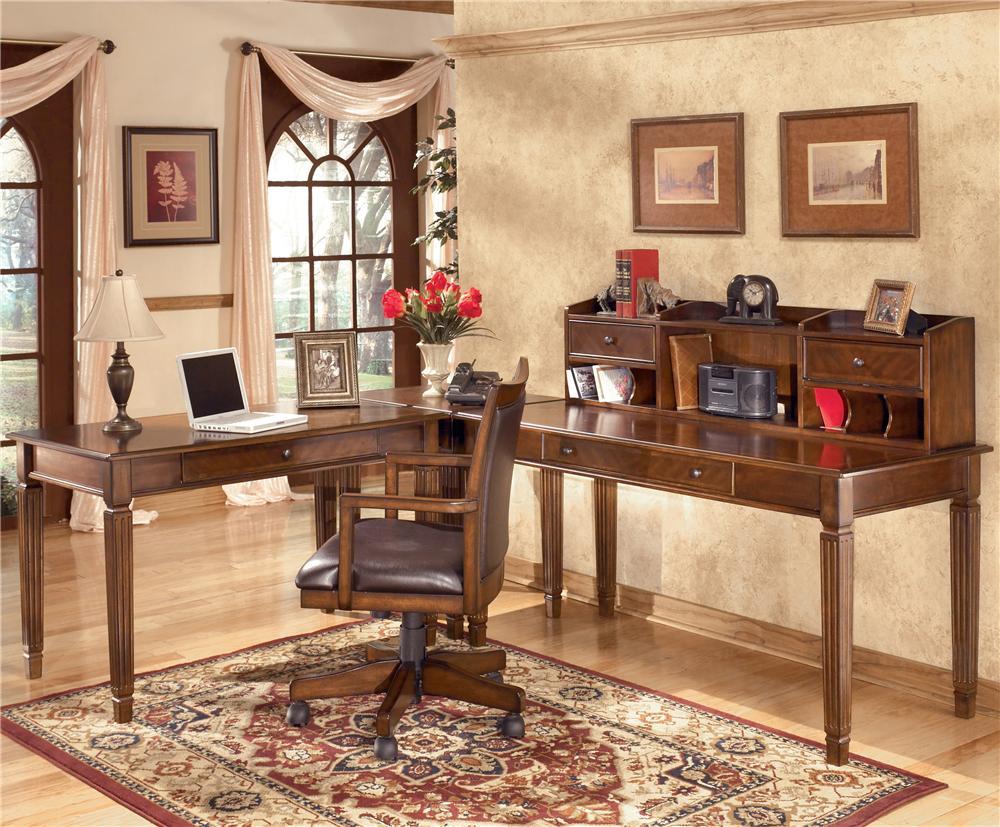 Hamlyn Large Leg Desk U0026 Large Low Hutch By Signature Design By Ashley. Hamlyn  Collection