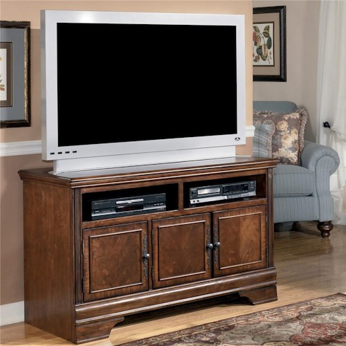 Signature Design by Ashley Hamlyn Transitional Medium TV Stand with Doors and Storage Compartments