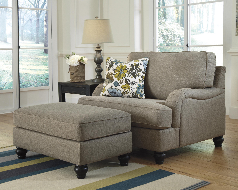 Ashley Furniture Hariston   Shitake Rectangular Ottoman