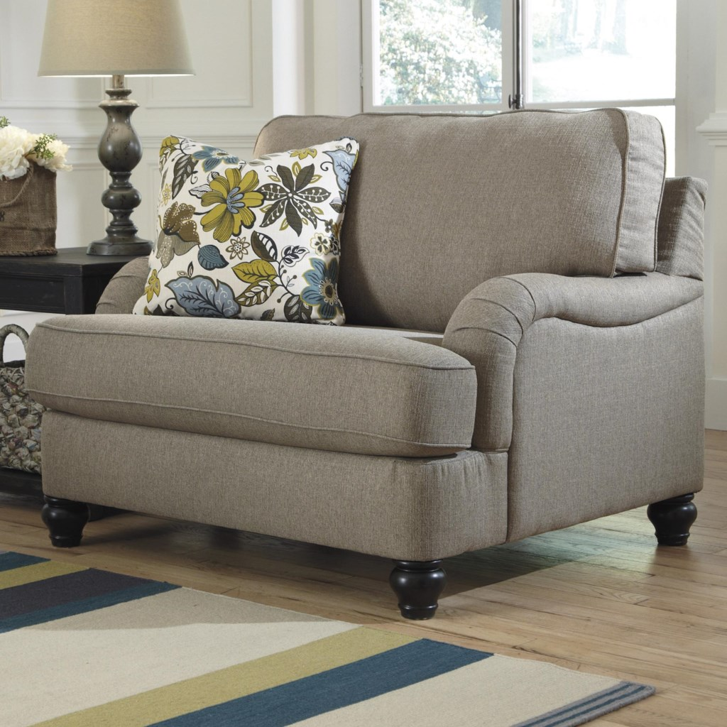 ashley furniture hariston - shitake chair and a half with english