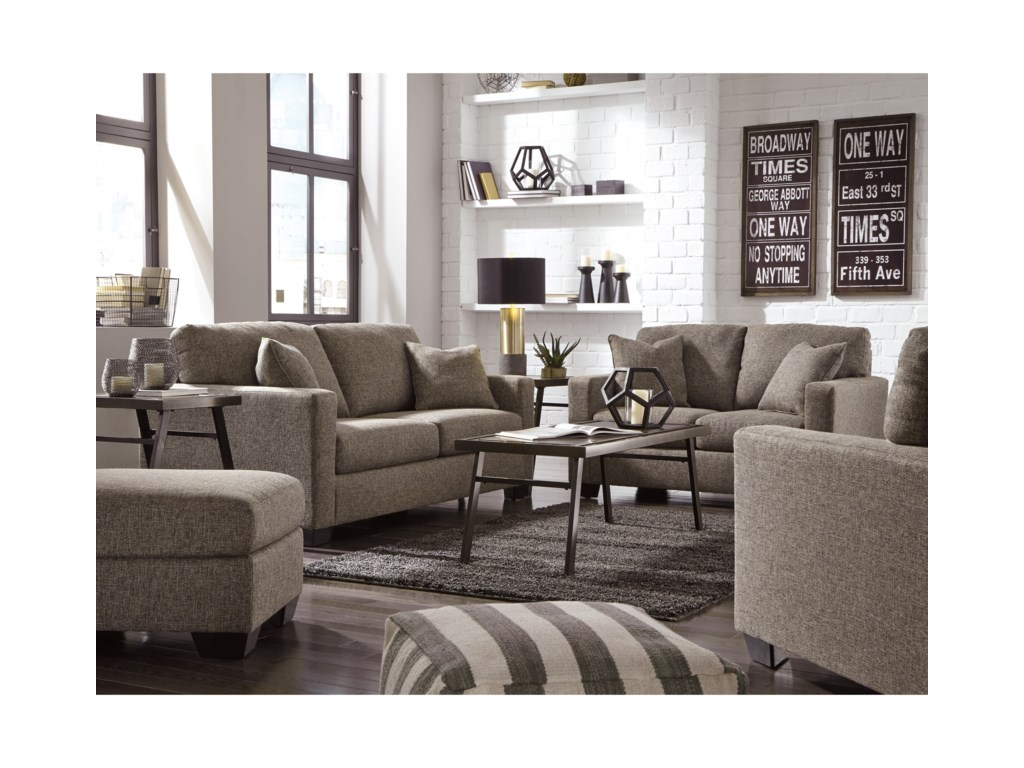 Bedroom furniture on living room sets ashley furniture queen anne - Hearne Contemporary Chair Ottoman By Ashley Furniture