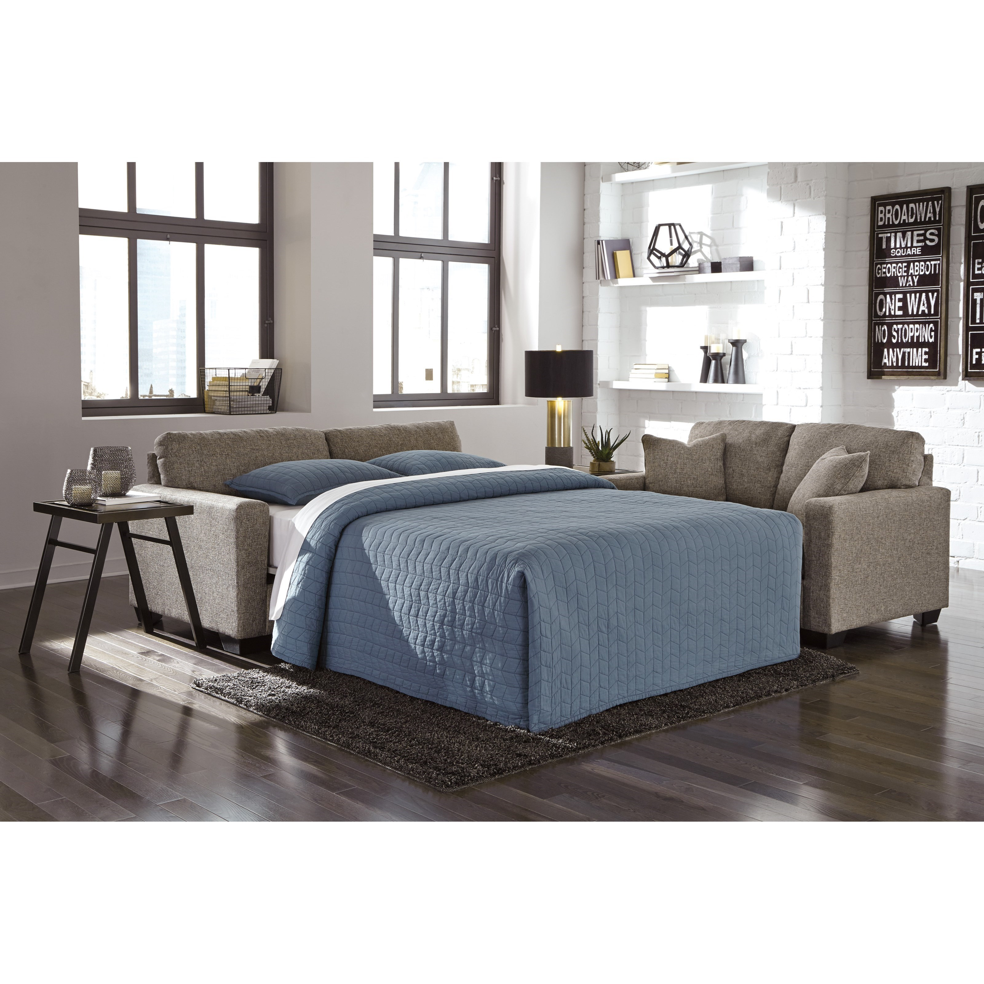 Hearne 3200036 Contemporary Full Sofa Sleeper With Track Arms By Ashley  Furniture Part 69