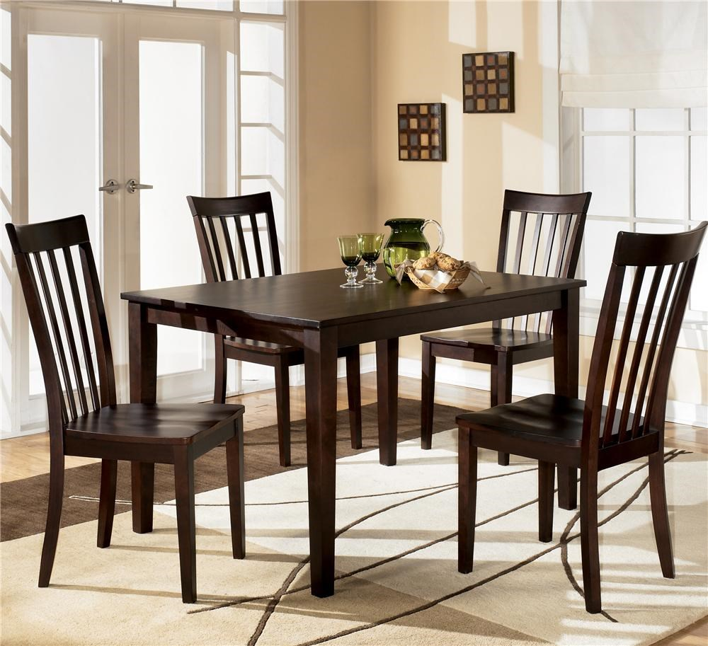 4 Chair Dining Sets ashley furniture hyland 5-piece dining set with rectangular table
