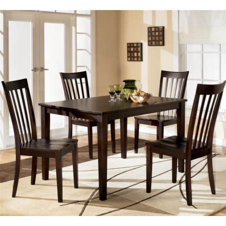 Rectangular Dining Table with 4 Chairs