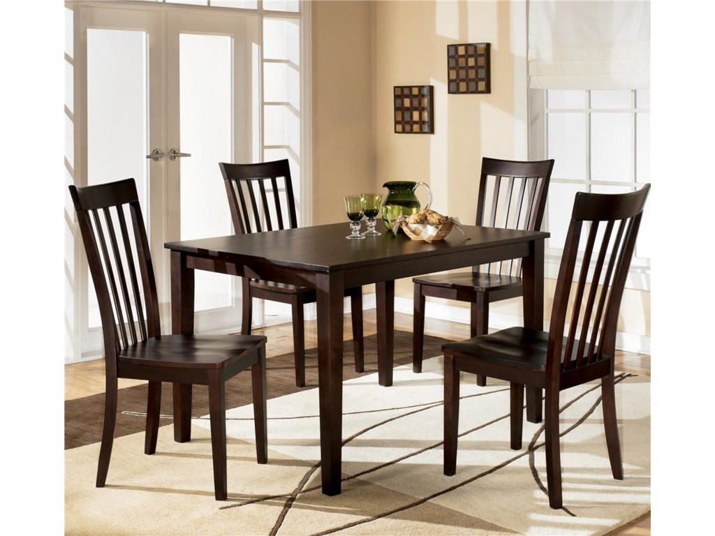 Hyland 5 Piece Dining Set With Rectangular Table And 4 Chairs By Ashley Furniture At Furniture And Appliancemart