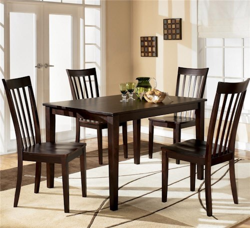 Ashley Furniture Hyland 5-Piece Dining Set with Rectangular Table and 4 Chairs