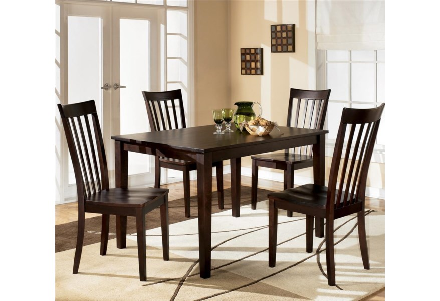 Hyland 5-Piece Dining Set with Rectangular Table and 4 Chairs by Ashley  Furniture at Furniture and ApplianceMart