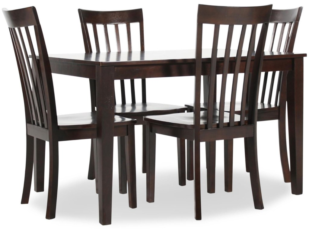 Hilton Rectangular Dining Table with 4 Chairs