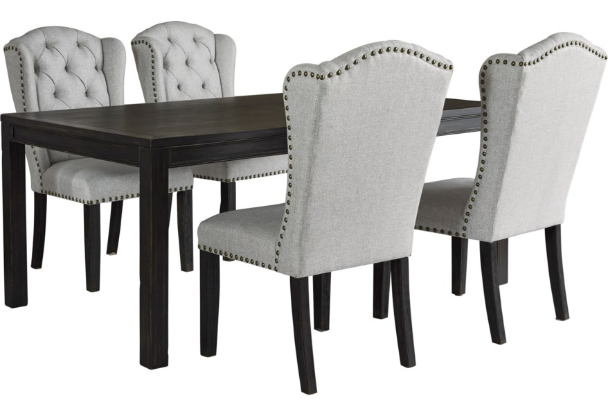 Ashley Furniture Jeanette D702 25 4x01 5 Piece Dining Set Pilgrim Furniture City Dining 5 Piece Sets