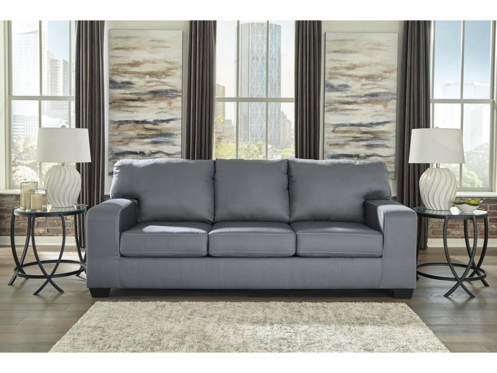 Kanosh Contemporary Gray Sofa Sleeper by Ashley Furniture at Sam Levitz  Furniture