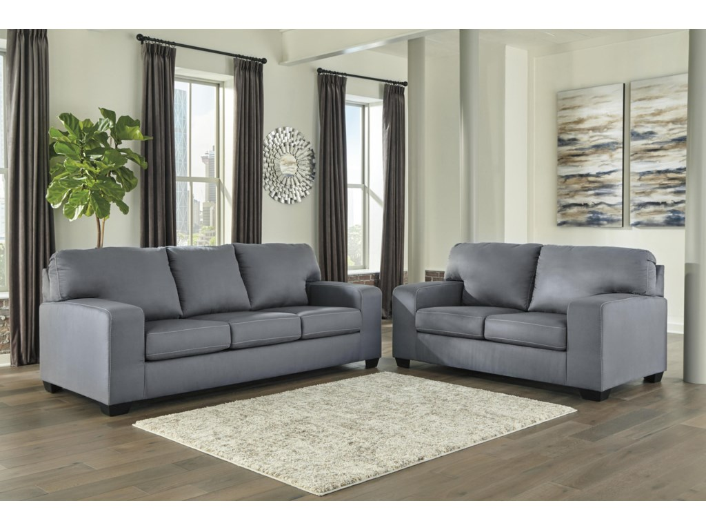 Kanosh Gray Sofa and Loveseat