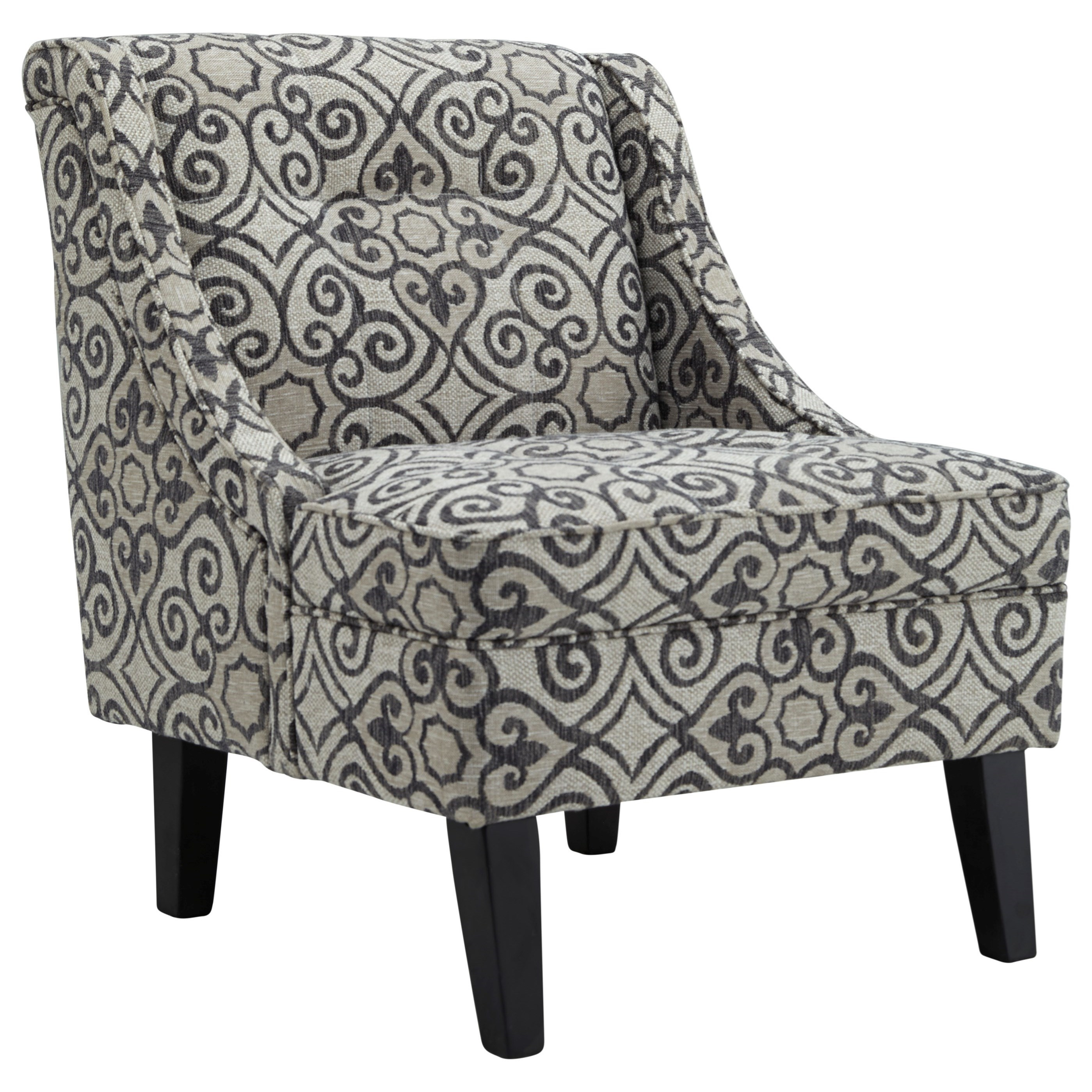 Kestrel Accent Chair With Gray/Cream Pattern Fabric By Ashley Furniture