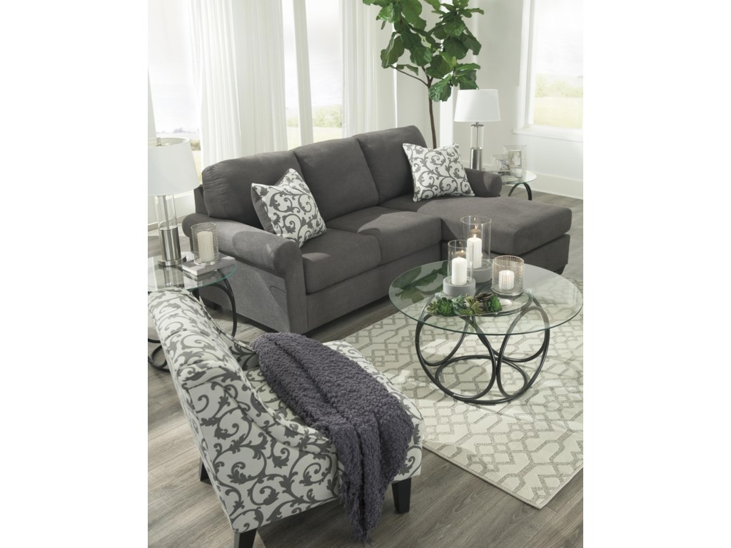 Kexlor Alloy Chaise Sofa and Accent Chair Set by Ashley Furniture at Sam  Levitz Furniture