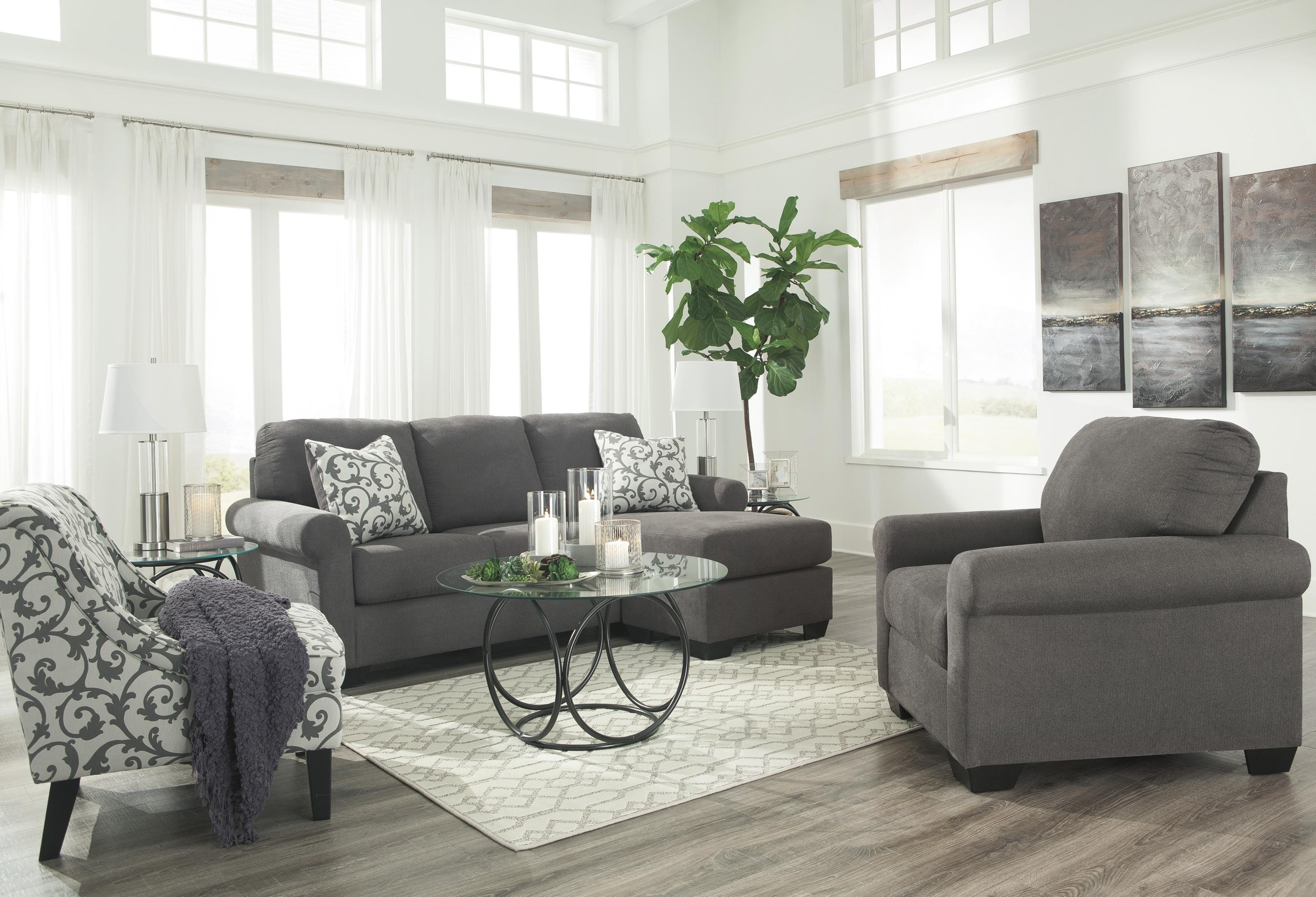 Kexlor Chaise Sofa Chair And Accent Chair Set