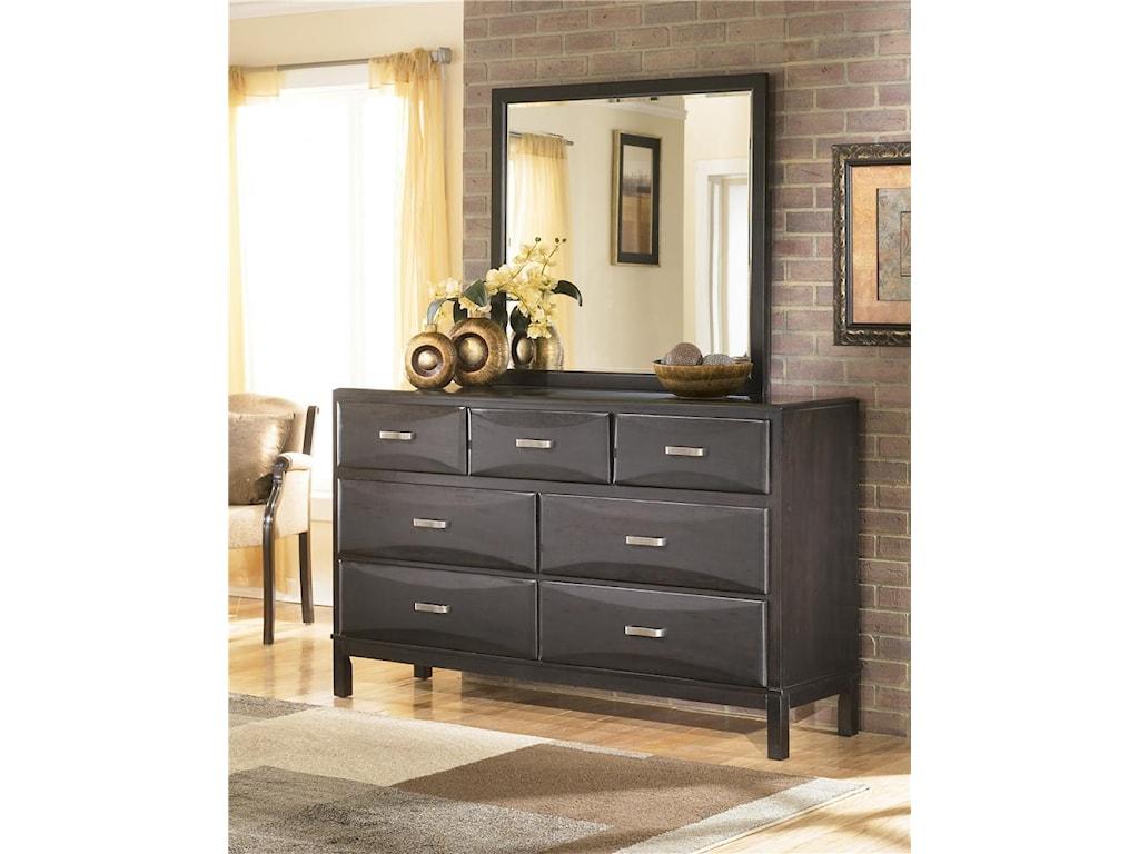 Ashley Furniture KiraDresser and Mirror Combo