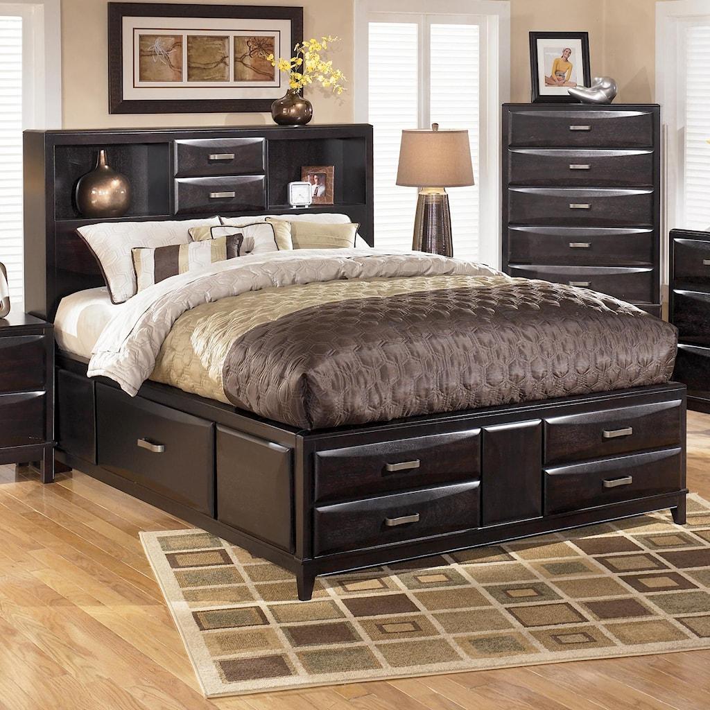 Ashley Furniture Kira Queen Storage Bed Becker Furniture World