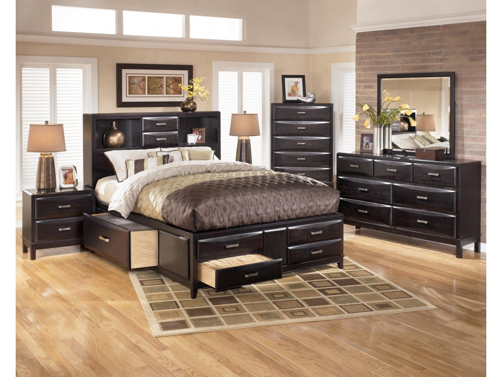 Ashley Furniture KiraQueen Storage Bed