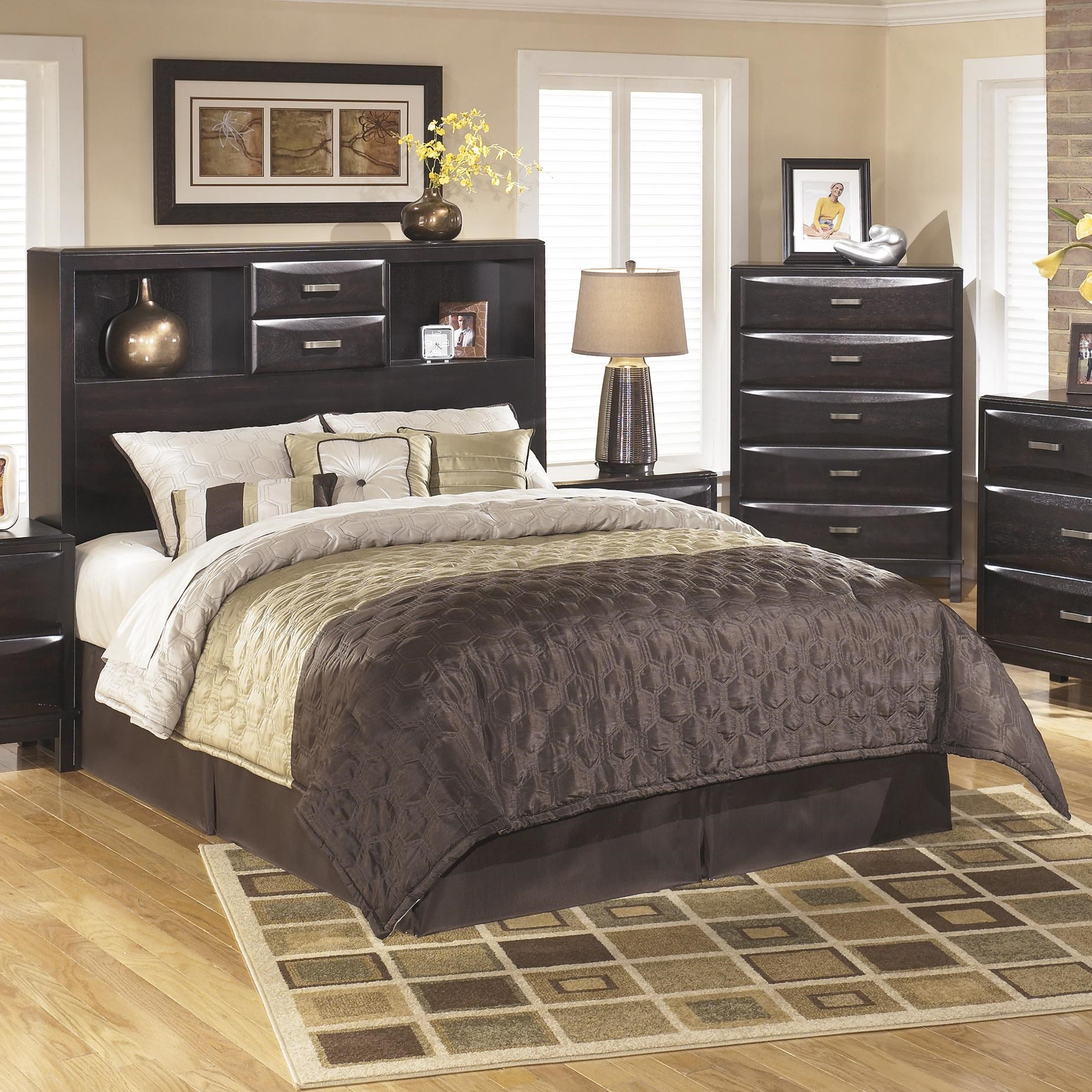 Ashley Furniture KiraQueen Storage Headboard ...  sc 1 st  Furniture and ApplianceMart & Ashley Furniture Kira B473-65 Queen Storage Headboard | Furniture ...
