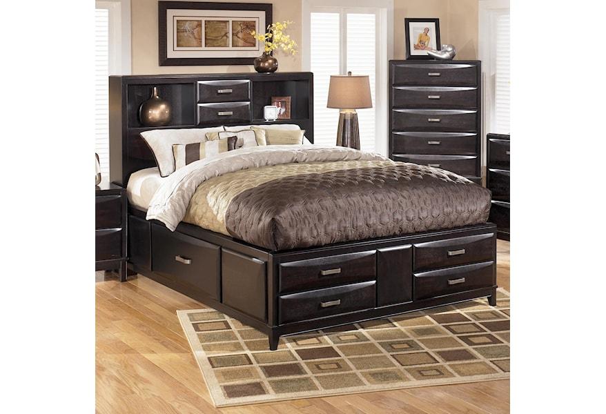 Ashley Furniture Kira King Storage Bed Dunk Bright Furniture