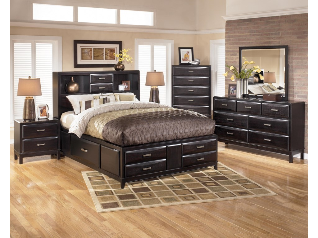 Ashley Furniture Kira King Storage Bed Wayside Furniture